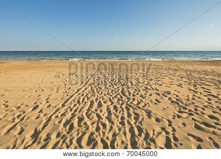Sandy beach in Antalya Turkey
