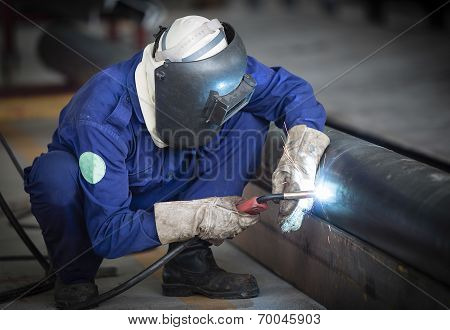 Welding work.