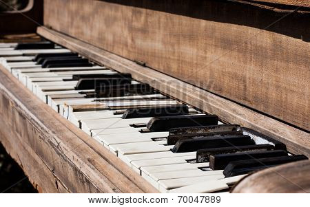 Weathered Piano Keyboard