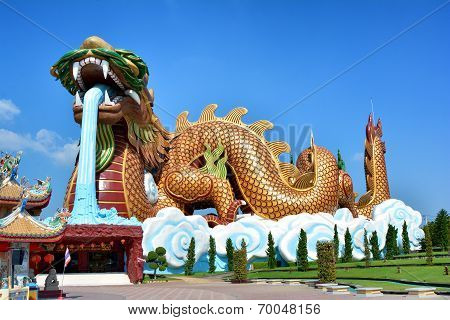 Dragon statue at Supanburi, Thailand
