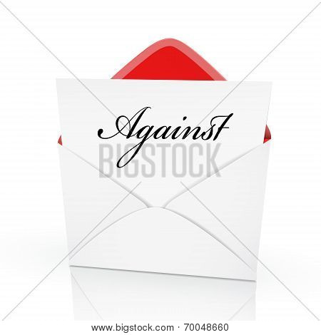The Word Against On A Card