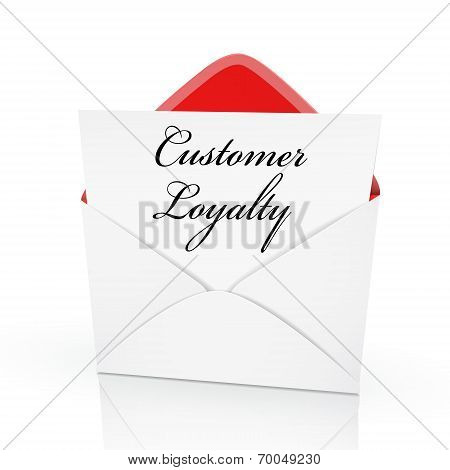 The Words Customer Loyalty On A Card