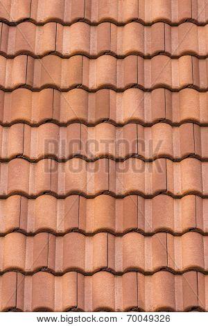 Seamless Orange Roof Tile Texture Background.