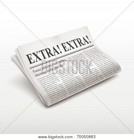Extra Extra Words On Newspaper