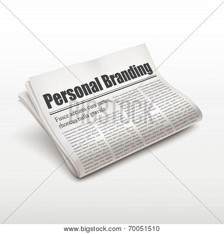 Personal Branding Words On Newspaper