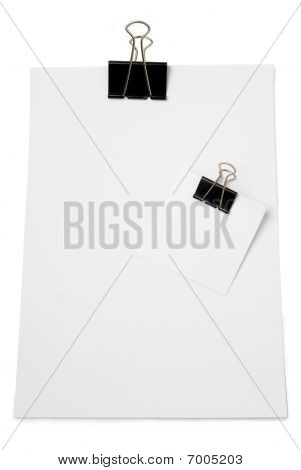 Large And Small Size Clips Holds Sheets