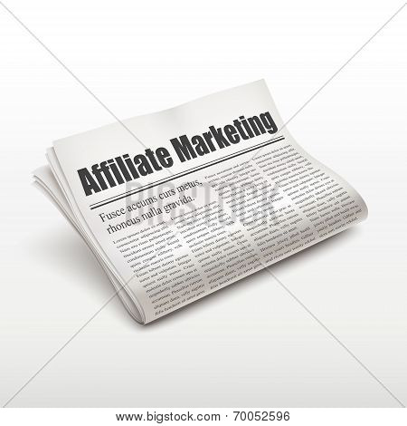 Affiliate Marketing Words On Newspaper