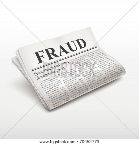 Fraud Words On Newspaper