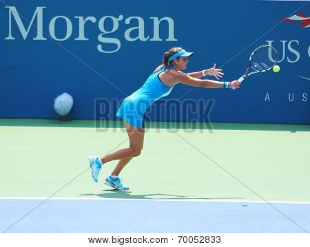 Professional tennis player Julia Goerges during first round match at US Open 2013