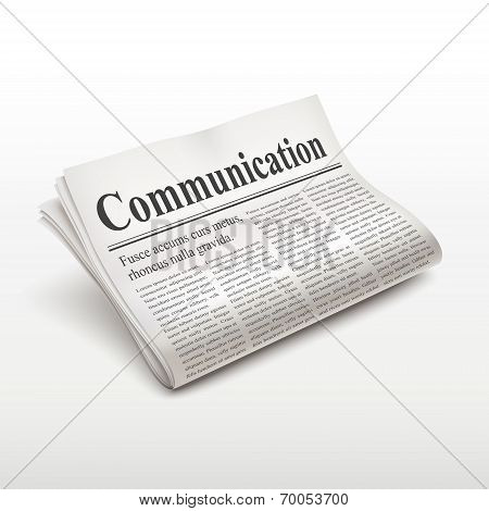Communication Word On Newspaper