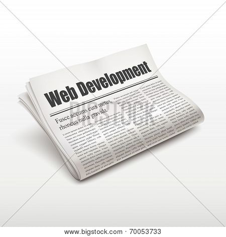 Web Development Words On Newspape