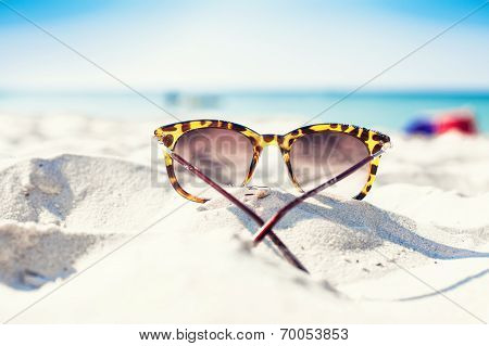Glasses On A Beach