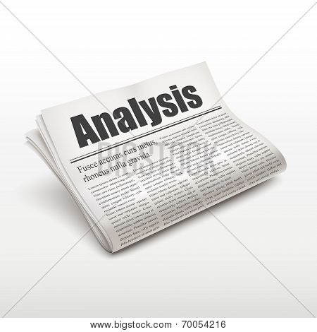 Analysis Word On Newspaper