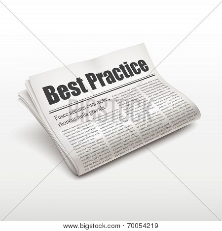 Best Practice Words On Newspaper