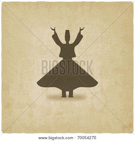dervish dancer old background