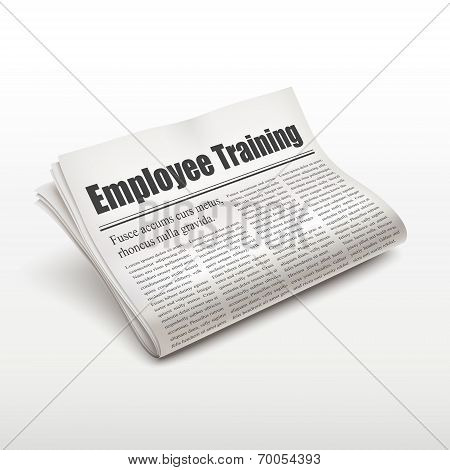 Employee Training Words On Newspaper