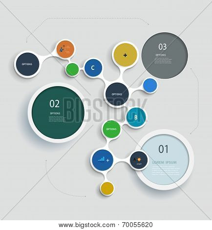 Simply Infographic Step By Step  Molecule Template Design