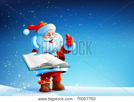 Santa with book