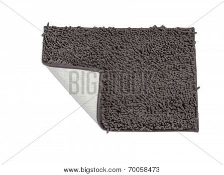 dark gray doormat showing front and back side
