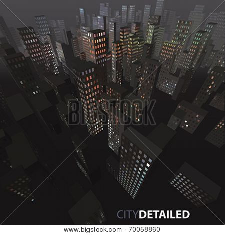 Vector night city background