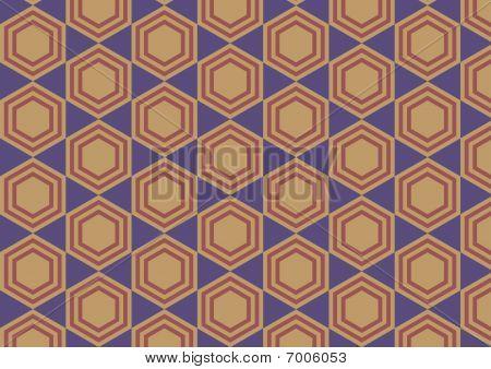 Hexagon Retro Abstract Background