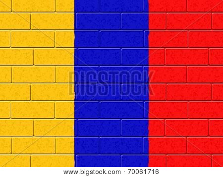 Columbian Flag Means South American And Construction