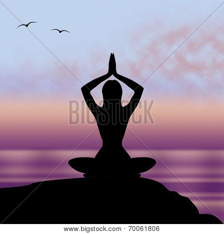 Yoga Pose Means Posture Harmony And Feel