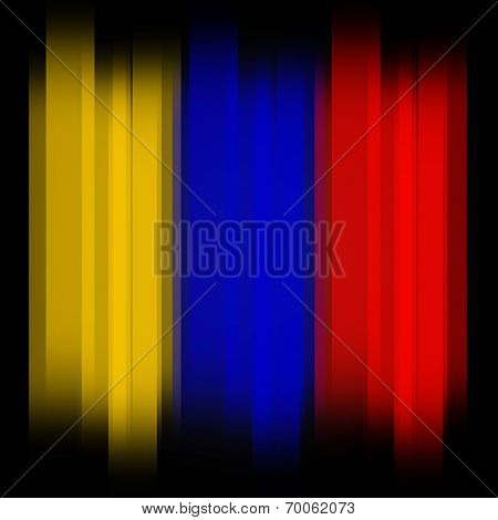 Columbian Flag Represents South American And Countries
