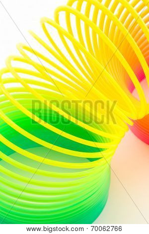 Rainbow Colored Wire Spiral.
