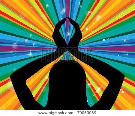 Yoga Pose Represents Silence Posture And Harmony