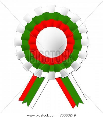 Bulgarian Rosette Indicates National Flag And Prestige