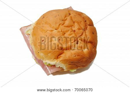 Ham Sandwich Isolated Over A White Background