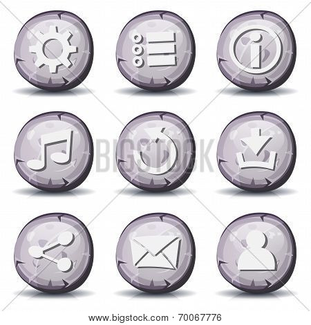 Stone And Rock Icons For Ui Game