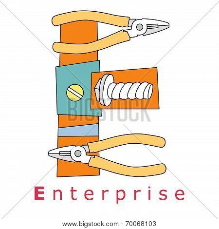 Letter E-enterprise