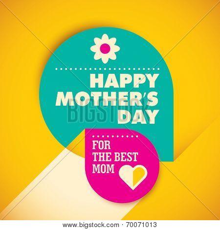 Modern mother's day card design. Vector illustration.