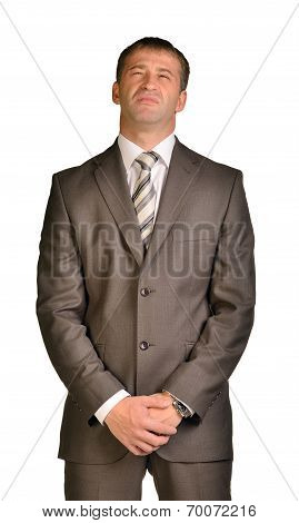 Businessman with disdain on her face