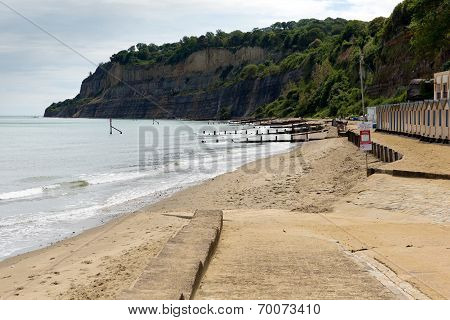 Beach Shanklin Isle of Wight England UK, popular tourist and holiday location east coast IOW