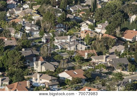 Southern California suburban housing track in Ventura County's Simi Valley.