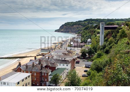 Shanklin town Isle of Wight England UK, popular tourist and holiday location east coast