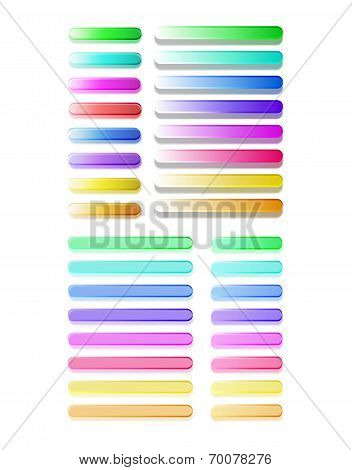 Big set of semitransparent colorful buttons