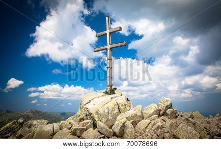 Cross On The Hill Dumbier At Slovakia