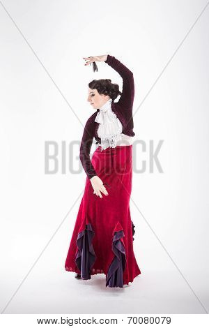 Female Spanish Flamenco Dancer