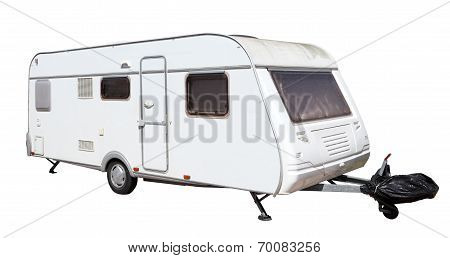 Caravan Isolated Over White