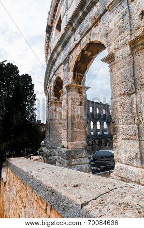 Roman Amphitheatre (arena) In Pula