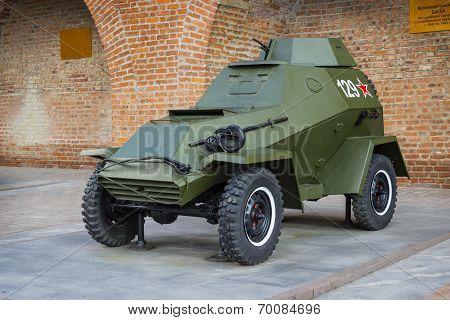 Russia, Nizhny Novgorod - Aug 06, 2014: Armored Car Ba-64 World War II