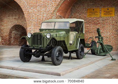 Russia, Nizhny Novgorod - Aug 06, 2014:passenger Road Vehicle Gaz-67B During The Second World War