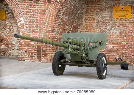 Russia, Nizhny Novgorod - Aug 06, 2014: Anti-57-mm Gun Zis-2 During The Second World War