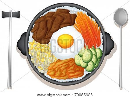 Illustration of a dish of korean food