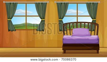 Illustration of a bedroom scene