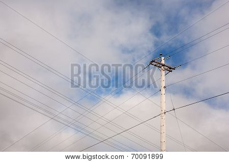 Wooden Telephone Pole